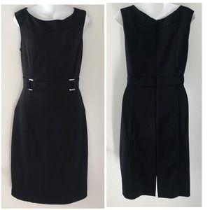 White House Black Market Sz 12 Black Dress NWT